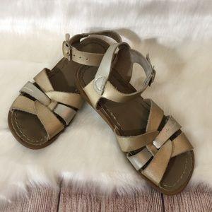 Salt Water Gold/Silver Sandals